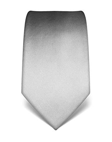 Herren Krawatte reine Seide uni einfarbig edel