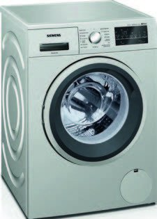 Siemens IQ500�wm14t49�X is Independent Front Loading 8�kg 1400RPM A + + + Stainless Steel�-�Washing Machine (Freestanding, Front Loading, Stainless Steel, Left, LED, White)
