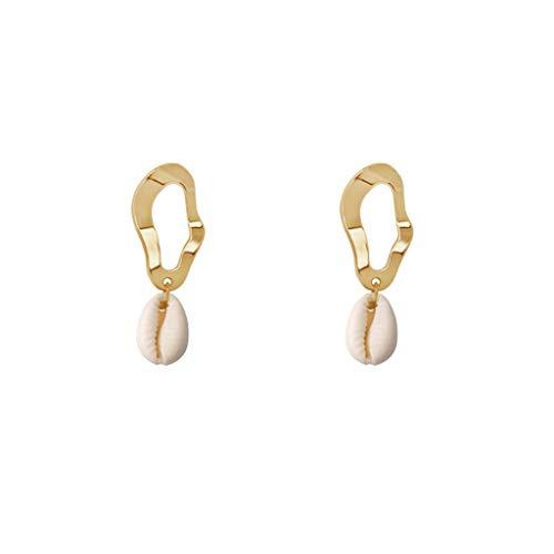 Verkauf Geometrische Ohrringe Unregelmäßige Schale Anhänger Baumeln Luxus Sommer Strand Dame Schmuck Geschenke Charms Trend Drop Dekoration Hochzeit Party Deco ()