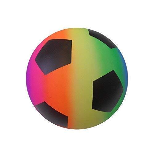 Lively Moments Leichter Fußball ca. 23 cm in Neon-Regenbogenfarben / Spielball / Strandball / Ball