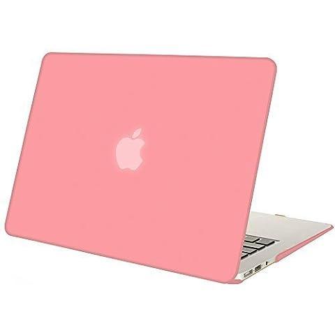 Vintoral 2 in 1 Custodia cover Macbook Air 13, Gommato Duro Caso Copertina per 13.3 Pollice Macbook Air con Europeo Stile Morbido Tastiera Copertina (Rosa)
