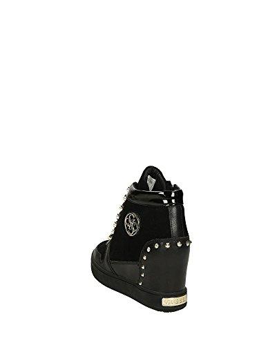 GUESS (Falan) Sneaker Zeppa Stringata Camoscio FLLAN3-SUE12 Nero