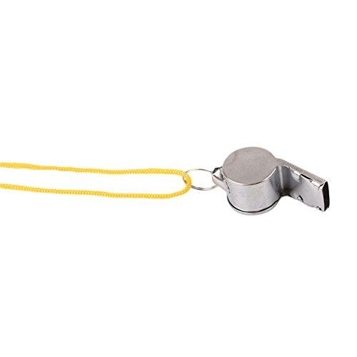 Lalang Schiedsrichterpfeife Trillerpfeifen Signalpfeifen Metall mit Gelb Kordel