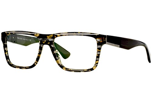 Prada Für Mann 07s Green Striped Tortoise Kunststoffgestell Brillen, 54mm