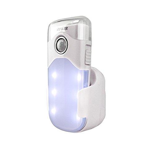 Xtralite NiteSafe Duo Wiederaufladbares mit 3 Funktionen-LED Nachtlicht, LED-Taschenlampe und -Stromausfallbeleuchtung mit Bewegungssensor XL20766