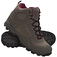 Mountain Warehouse McLeod Womens Comfortable Boots - Breathable Ankle Boots, Durable Hiking Boots, Padded & Lightweight Walking Shoes - Ideal for Trekking & Travelling