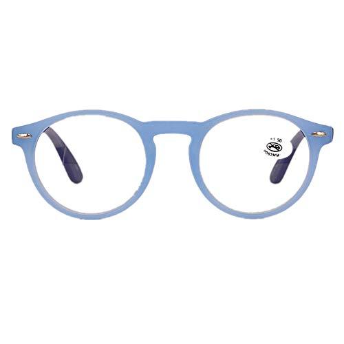 YUNCAT Lesebrillen Damen Herren Retro Runde Lesehilfe Sehhilfe Arbeitsplatzbrille Nerdbrille...