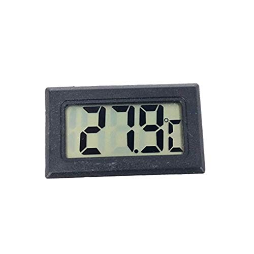 DKEyinx Mini LCD Digital Wireless Thermometer Hygrometer Temperatur-Feuchtemessgerät, 0°C ~ 50°C, 4,7 cm x 2,7 cm Schwarz - Digital Wireless Lcd