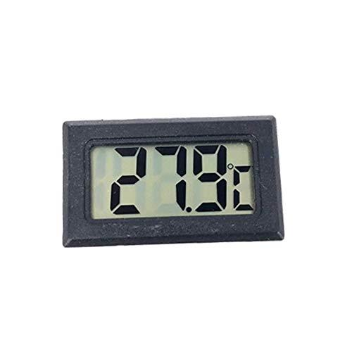 Sukisuki Mini LCD Digital Wireless Temperatur-Feuchtemessgerät Thermo-Hygrometer,tragbares Temperatur-Feuchte mit hohen Genauigkeit,geeignet für Babyraum, Wohnzimmer, Büro Black - Wireless Thermo-hygrometer