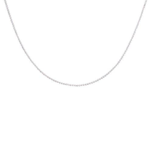 YAZILIND einfache versilberte Kette Halsband Choker Anweisung Circle Link Spangen für zarte Halsketten (Diy Kostüm Vorhanden)