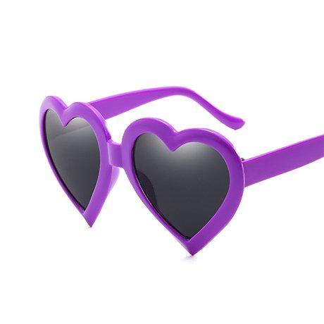 Ggssyy love heart occhiali da sole da donna eye vintage gift black pink red heart shape occhiali da sole per donna, marrone