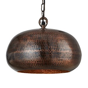 Searchlight 2094-32BZ Hammered Antique Bronze Elipse Beaten Pendant Light