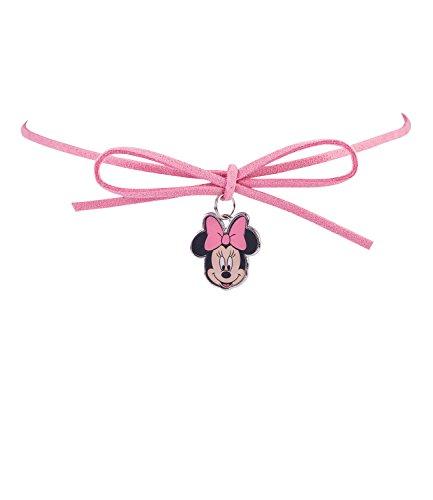 hmuck - Minnie Mouse Halskette mit Schleife in rosa, Karneval, Fasching, Kostüm (297-609) ()