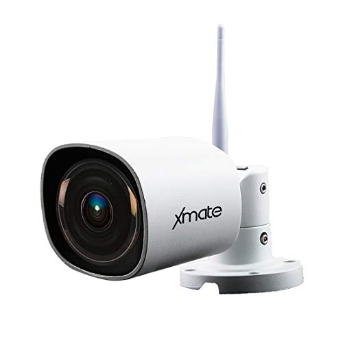 Xmate Zoom 2MP HD IR Outdoor Waterproof CCTV Security IP Camera, WiFi Wireless, Cloud Storage Support, Motion Detection, Night Vision, Remote App View, SD Card Storage Up to 128G (White)
