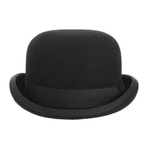 Kostüm Magier Männliche - NIRANGWOZ Schwarze Kuppel Hut Herren Und Damen Satin Futter Party Formelle Kostüm Magier Cap