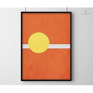 Minimal Print | Tennis | DIN A2 | Modern | Formen und Farben | Art Design Illustration | Poster | Druck | Geometrisch | Sport | Sportler | Wohnen | Wandbild | Deko | Geschenk