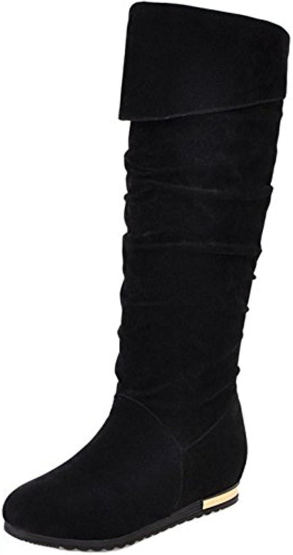 RAZAMAZA Botas Largas de Invierno Tacon Bajo Zapatos para Mujer