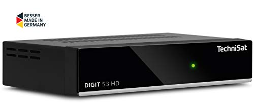 TechniSat Digit S3 HD Digital HD Satelliten Receiver (HDTV, Sat DVB-S/S2, HDMI, USB, vorinstallierte Programmlisten, Unicable tauglich) schwarz