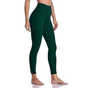 EUZeo Frauen Trainieren Taschen Gamaschen Eignungs-Sport, der Yoga-athletische Hosen laufen lässt Damen Einfarbig Sporthose Workout Fitness Jogginghose Leggings Strumpfhose mit Taschen