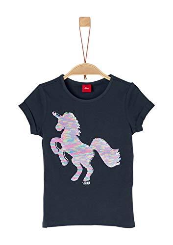 s.Oliver Junior s.Oliver Junior Mädchen 54.899.32.0466 T-Shirt, Blau (Dark Blue 5834), 92 (Herstellergröße: 92/98/REG)