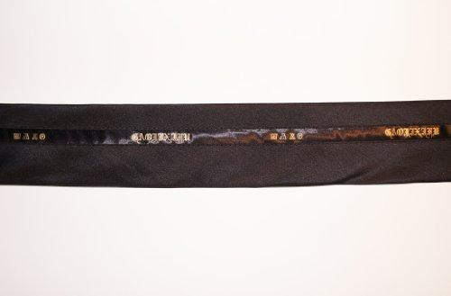 Tailor Taillen-Band / Tailor, Studenten- PRE-BL Farbe Schwarz / Silk Satin-Ordnung (2 M) (Hosen-anzug Maßgeschneiderte)