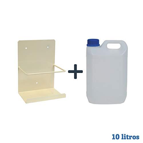 Pack bidón garrafa diez litros + Soporte pared