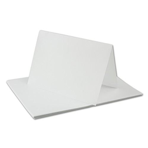 ge-Papier für A6 Doppelkarten | transparent-weiß | 143 x 200 mm (100 x 143 mm gefaltet) | ideal zum Bedrucken mit Tinte und Laser | hochwertig Mattes Papier von Gustav NEUSER® ()