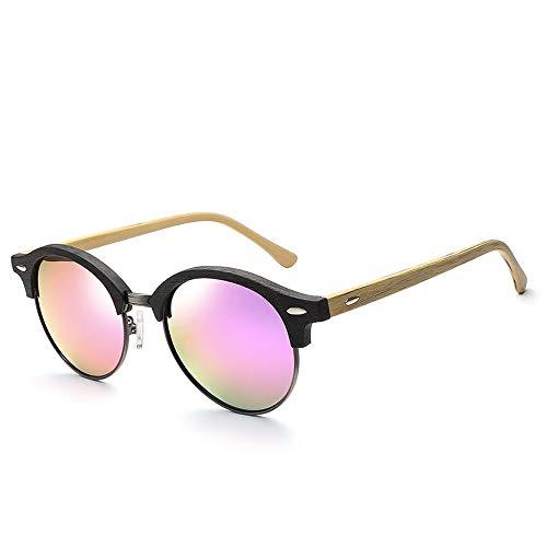 Sunglasses LWS L.W.SURL Runde Rahmenplatte polarisierten Sonnenbrillen für Frauen Männer Mode Korn Cat Eye Sonnenbrillen (Color : 01Purple)