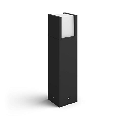 Philips Hue White LED Sockelleuchte Fuzo, für den Aussenbereich, dimmbar, warmweißes Licht, steuerbar via App, kompatibel mit Amazon Alexa (Echo, Echo Dot)