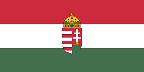DIPLOMAT Flagge Ungarn | Querformat Fahne | 0.06m² | 17x34cm für Flags Autofahnen