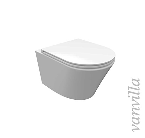 vanvilla Design Hänge WC Spülrandlos rimless + Hänge Bidet SET Luanda, inklusive Soft-Close - 2
