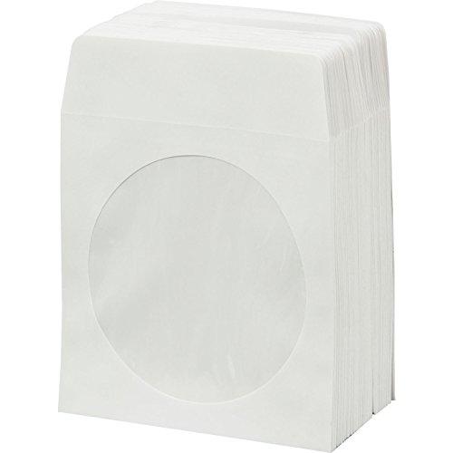 bestduplicator weiß CD/DVD Papier-Media Sleeves Briefumschläge mit Lasche und klar Fenster - Kunststoff Umschläge, E-mail