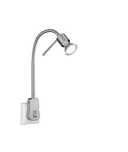 Trio Leuchten LED Steckerspot, Metall, GU10, 5 W, Nickel Matt, 16 x 4.7 x 40 cm