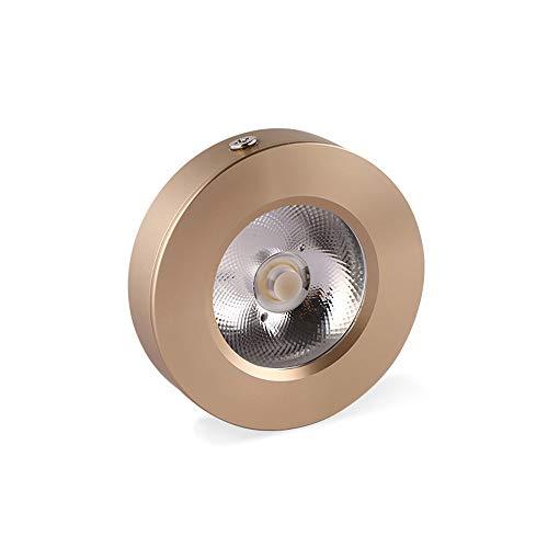 Zkciss Ultradünne LED-Kleinscheinwerfer im nordischen Stil zur Wandmontage Cob Wine Cabinet Light Showcase Zähler Micro Mini Downlight Moderne Einfachheit 6000K COB Weißlicht [Energieklasse A ++] -