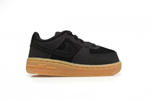 Nike Force 1 Td Scarpe Sportive, Unisex Bambino Multicolore - Black / Marrón (Black / Black-Gum Light Brown)