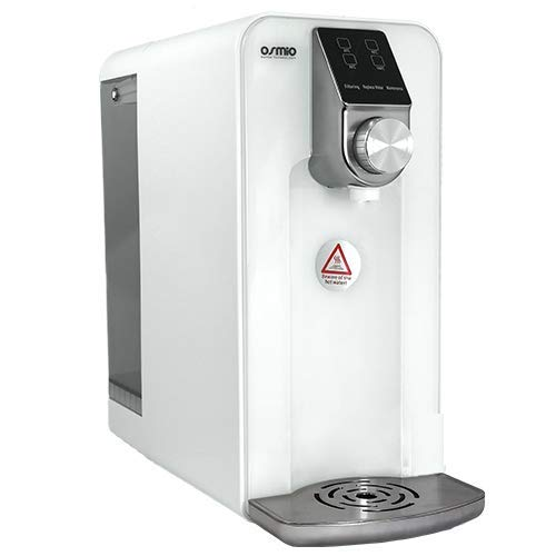 Cero de osmio ip-ii portátil sistema de ósmosis inversa (blanco)–no instalación, completamente portátil, produce hirviendo agua caliente, agua caliente y agua ambiente en un toque de un botón.