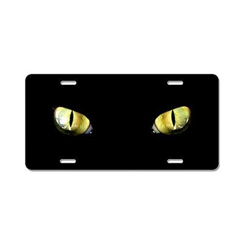 CafePress-Katze Augen Aluminium Nummernschild-Aluminium Nummernschild, vorne Nummernschild, Vanity Tag, dunkel