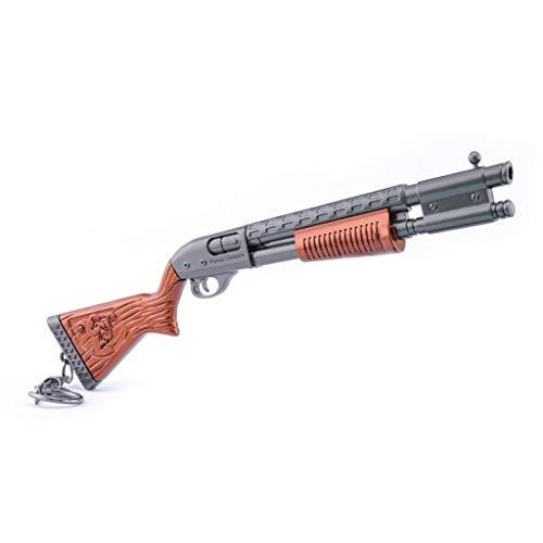 HNTZH Spiele Prop 1/6 Mini Metall Bär Schrotflinte Militär Gewehr Modell Action Figure Schlüsselanhänger Spielzeug Zubehör-B