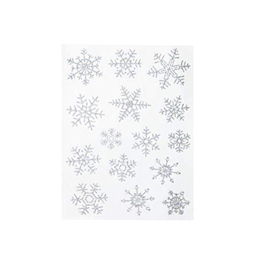 VORCOOL 10PC Weihnachten Dekorationen Schneeflocken Elektrostatische Aufkleber Fenster Glas Weihnachten Aufkleber Schneeflocke Free Collage Fenster Aufkleber -