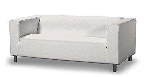 Dekoria franc-textil 629-705-01 klippan rivestimento per divano, 2 posti, colore: bianco