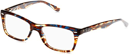 Ray-Ban Damen Brillengestell 0rx 5228 5711 50, Blau (Spotted Blu/Brown/Yellow)
