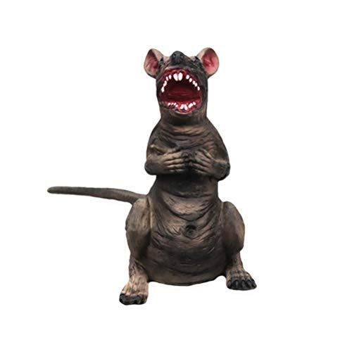 Amosfun Künstliche gefälschte Maus praktische Witze Requisiten realistische Mäuse für Halloween-Party -