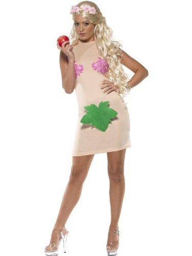 Eva Kostüm für Damen Evakostüm Garten Eden nackt Schöpfung Paradies Kleid Paradieskleid Gr. 36/38 (S), 40/42 (M), (Eva Von Kostüm Garten)
