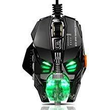 Gaming Maus für PC Gamer, [RGB Spectrum stimmbar] [Chroma Atmen Licht] [4000DPI] [verstellbar Gewicht] [8programmierbare Tasten] [A3050Hochwertigen Chip] Ergonomische Wired USB Mäuse für Computer Laptop Spiele