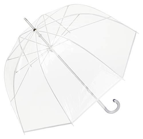 VON LILIENFELD Regenschirm Glockenschirm Transparent Durchsichtig Damen Herren Melina weiß