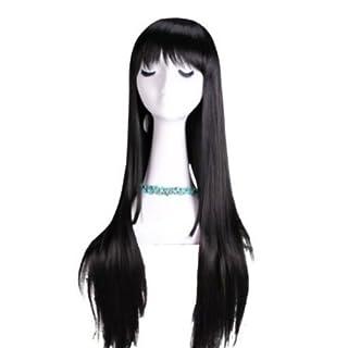 Tqglobal 75cm Akemi Homura Long Straight Black Cosplay Hair Wig Cb14 +Free Wig Cap