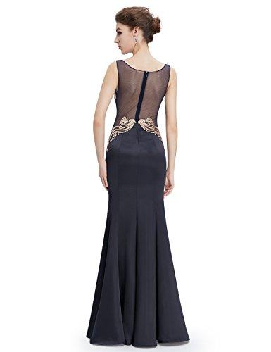 Ever Pretty Robe de Soirée Robe de cérémonie Maxi Élégante Style Fishtail EP08808 Noir