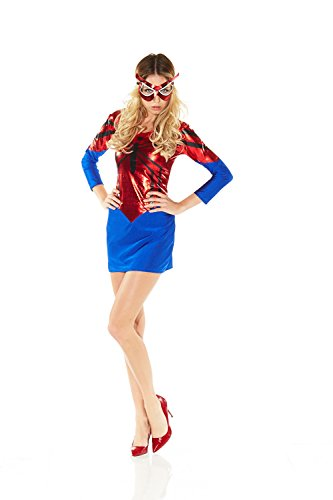 Damen-Kostüm SPIDER-GIRL KLEID Gr. ()