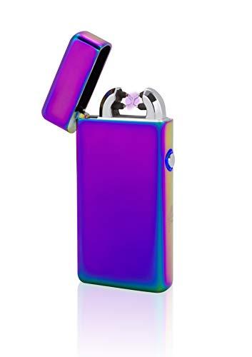 TESLA Lighter T08 | elektronisches USB Lichtbogen Feuerzeug, Regenbogen