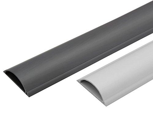 MB756-1m Fußboden Kunststoff Kabelkanal selbstklebend (klein, grau)